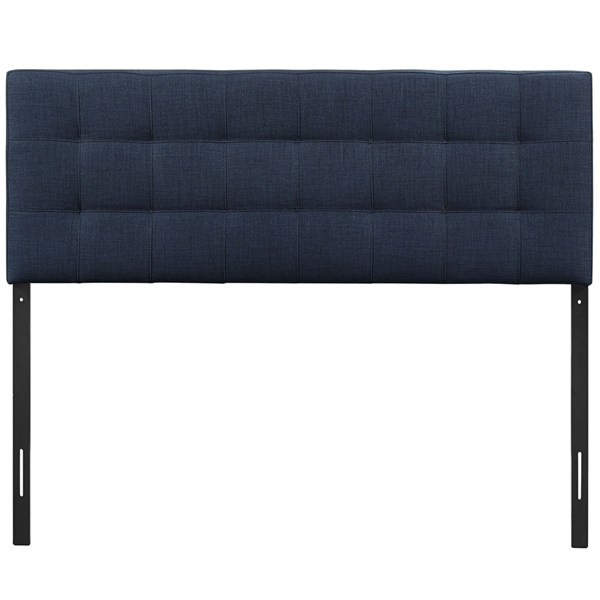 Lily Contemporary Navy Fabric Wood Queen Headboard MOD-5041-NAV