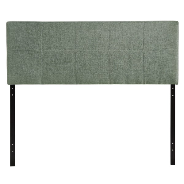 Oliver Contemporary Gray Fabric Wood Queen Headboard MOD-5042-GRY