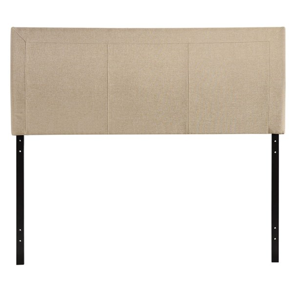 Isabella Contemporary Beige Fabric Wood Queen Headboards MOD-5043-HDBD-VAR