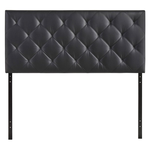 Theodore Contemporary Black Vinyl Queen Headboards MOD-5129-HDBD-VAR