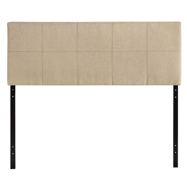 Oliver Contemporary Beige Fabric Wood Full Headboard MOD-5150-BEI