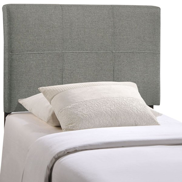 Oliver Contemporary Gray Fabric Wood Twin Headboard MOD-5152-GRY