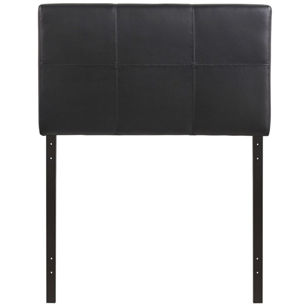Oliver Contemporary Black Vinyl Wood Twin Headboard MOD-5153-BLK