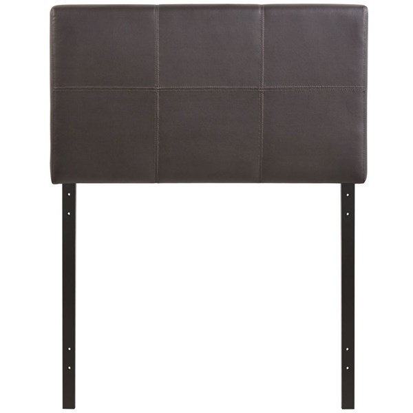 Oliver Contemporary Brown Vinyl Wood Twin Headboard MOD-5153-BRN