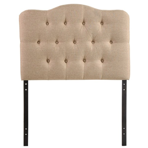 Annabel Elegant Beige Fabric Wood Twin Headboard MOD-5160-BEI