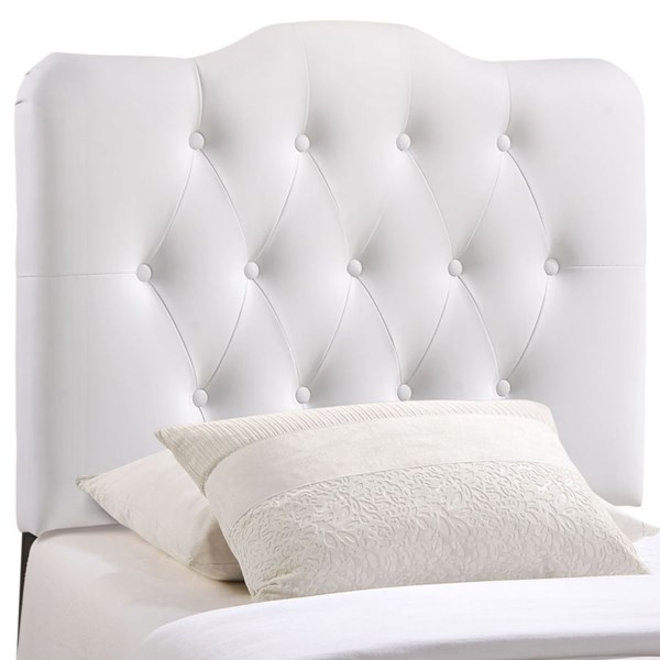 Modway Furniture Annabel White Vinyl Twin Headboard MOD-5161-WHI