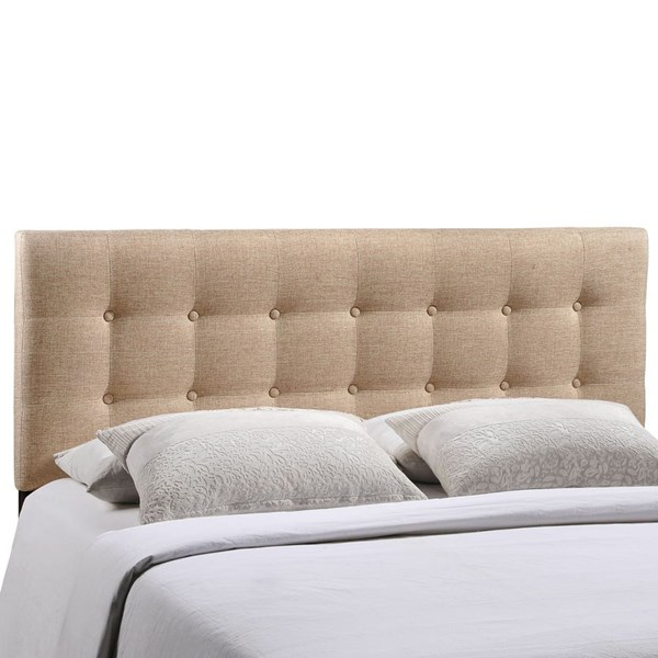 Emily Contemporary Beige Fabric Wood King Headboard MOD-5174-BEI