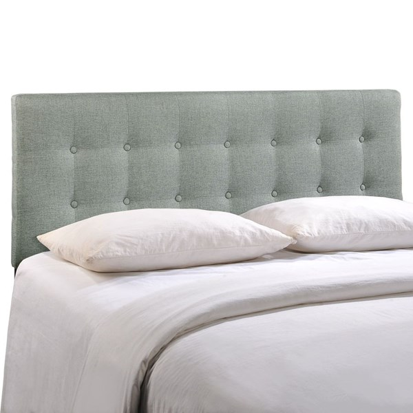 Modway Furniture Emily Gray Fabric Queen Headboard MOD-5170-GRY