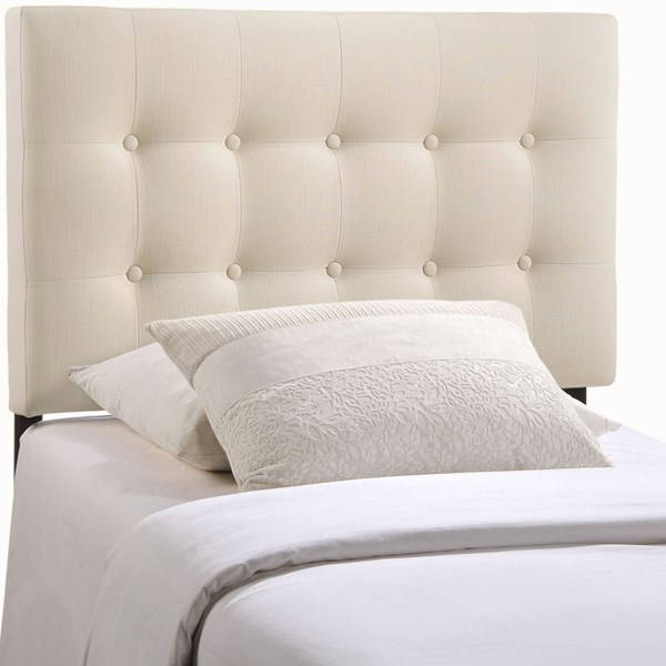 Modway Furniture Emily Ivory Fabric Twin Headboard MOD-5176-IVO