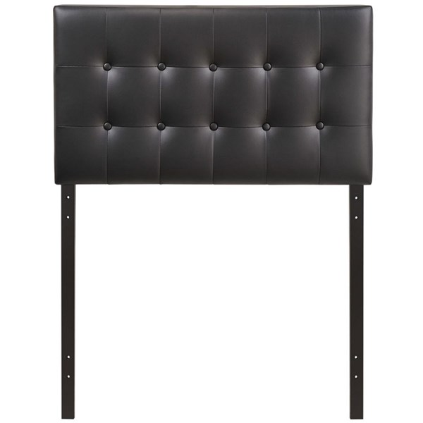 Modway Furniture Emily Black Vinyl Twin Headboard MOD-5177-BLK
