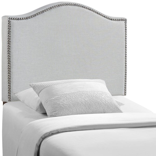 Curl Contemporary Sky Gray Fabric Wood Twin Upholstered Headboard MOD-5209-GRY
