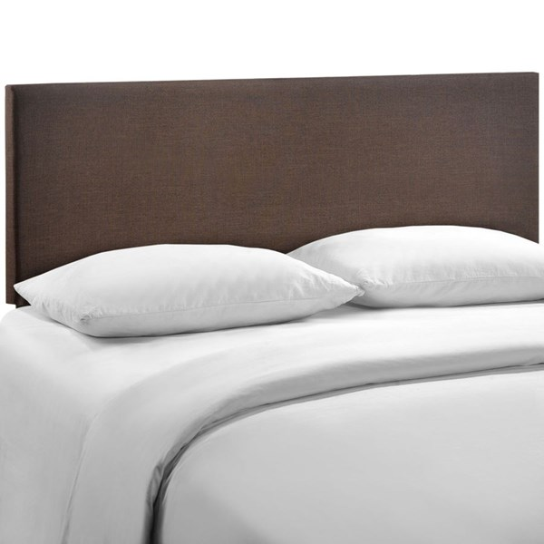 Region Contemporary Dark Brown Fabric Wood Queen Upholstered Headboard MOD-5211-DBR