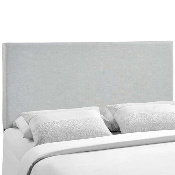 Region Contemporary Sky Gray Fabric Wood Queen Upholstered Headboard MOD-5211-GRY