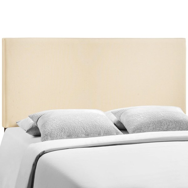 Region Contemporary Ivory Fabric Wood Queen Upholstered Headboard MOD-5211-IVO