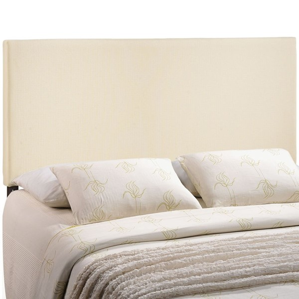 Region Contemporary Ivory Fabric Solid Wood King Upholstered Headboard MOD-5212-IVO