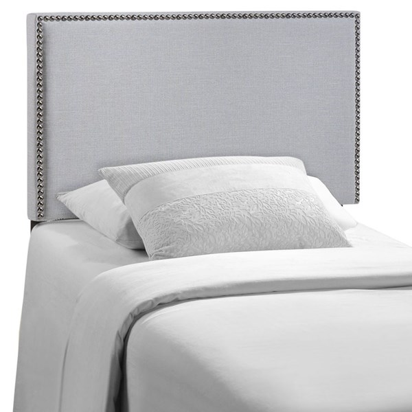 Modway Furniture Region Sky Gray Twin Nailhead Upholstered Headboard MOD-5218-GRY