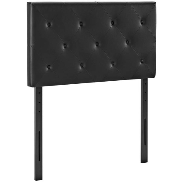 Modway Furniture Terisa Black Vinyl Twin Headboard MOD-5365-BLK