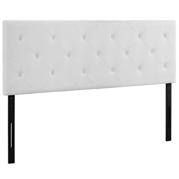 Modway Furniture Terisa White Vinyl Queen Headboard MOD-5369-WHI