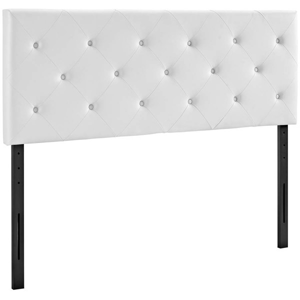 Modway Furniture Terisa White Vinyl King Headboard MOD-5371-WHI