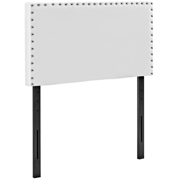 Modway Furniture Phoebe White Vinyl Twin Headboard MOD-5381-WHI