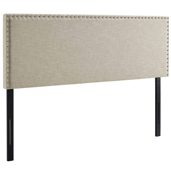 Modway Furniture Phoebe Beige King Upholstered Headboard MOD-5388-BEI
