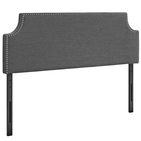 Modway Furniture Laura Gray Queen Upholstered Headboard MOD-5394-GRY