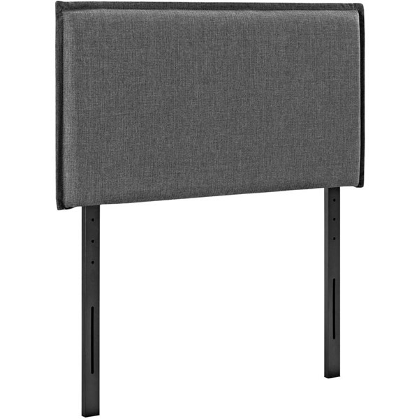 Modway Furniture Camille Gray Twin Upholstered Headboard MOD-5405-GRY
