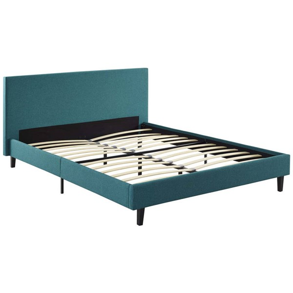 Modway Furniture Anya Teal Fabric Queen Bed MOD-5420-TEA