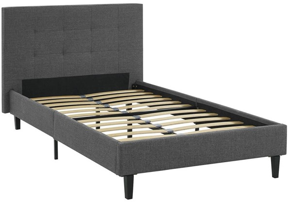 Modway Furniture Linnea Gray Twin Bed MOD-5422-GRY