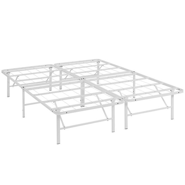 Modway Furniture Horizon White Queen Bed Frame MOD-5429-WHI