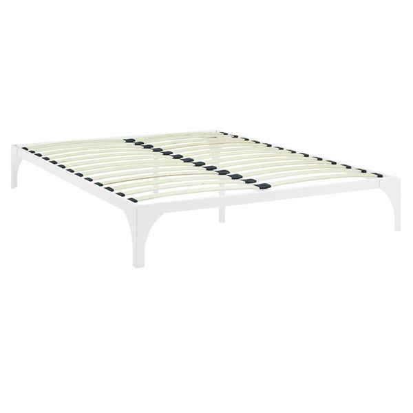 Modway Furniture Ollie White King Bed Frame MOD-5433-WHI