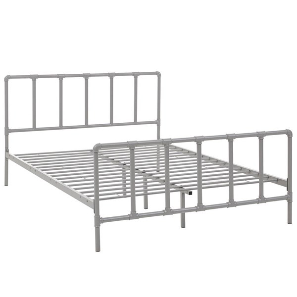 Modway Furniture Dower Gray Queen Bed MOD-5437-GRY