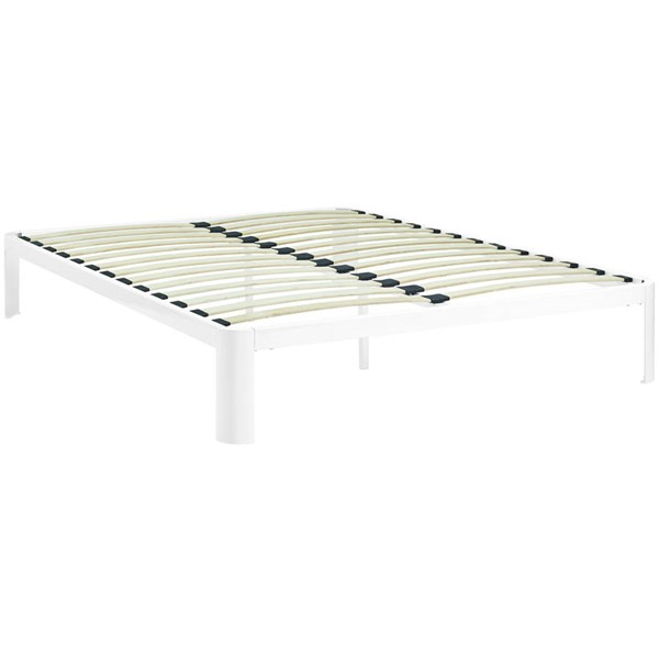 Modway Furniture Corinne White Queen Bed Frame MOD-5469-WHI