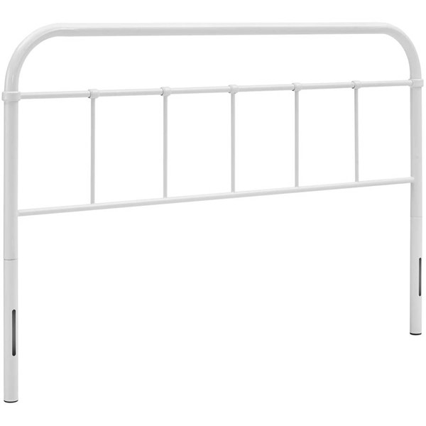 Modway Furniture Serena White Queen Steel Headboard MOD-5536-WHI