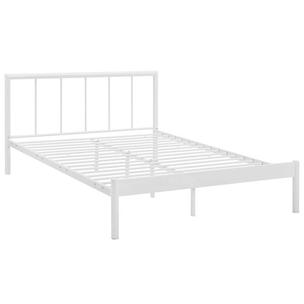 Modway Furniture Gwen White Queen Bed Frame MOD-5545-WHI-SET