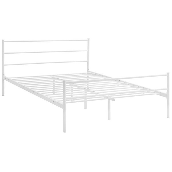 Modway Furniture Alina White Full Platform Bed Frame MOD-5552-WHI-SET