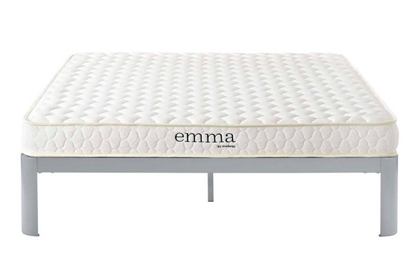 Modway Furniture Emma White 6 Inch King Mattress MOD-5736-WHI