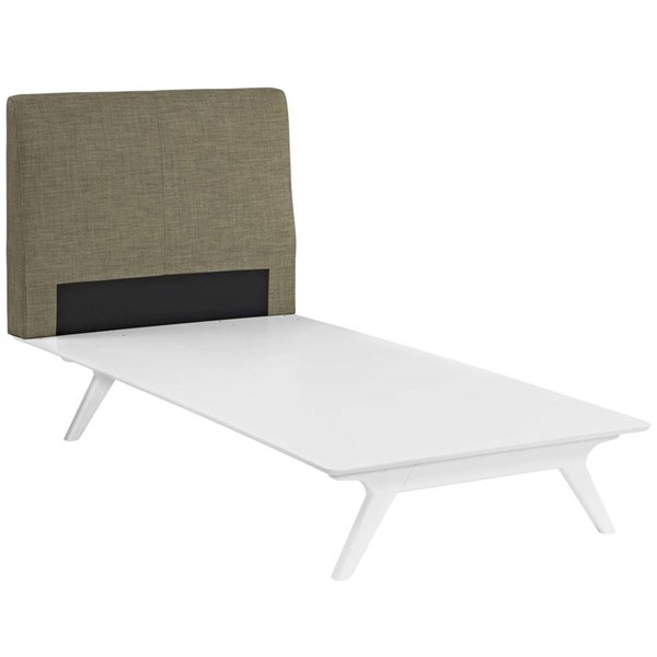 Modway Furniture Tracy White Latte Twin Bed MOD-5764-WHI-LAT