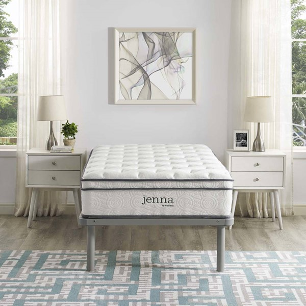 Modway Furniture Jenna White 10 Inch Twin Innerspring Mattress MOD-5768-WHI