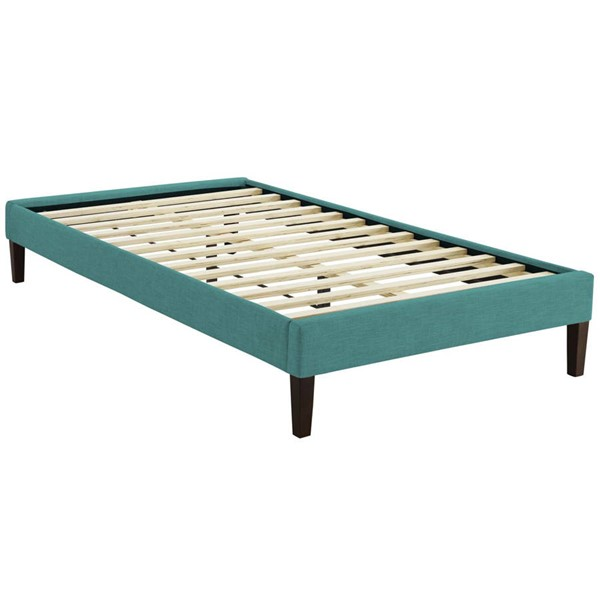 Modway Furniture Tessie Teal Fabric Squared Tapered Legs Twin Bed Frame MOD-5895-TEA
