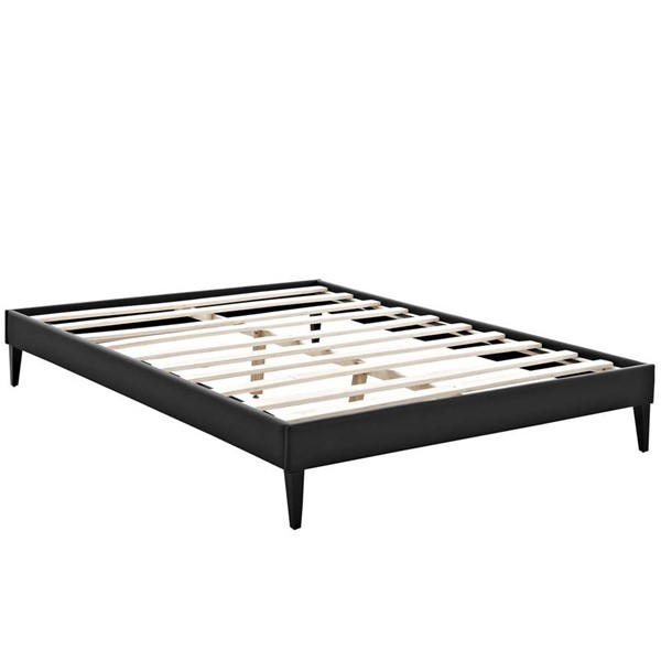 Modway Furniture Tessie Black Vinyl Squared Tapered Legs King Bed Frame MOD-5900-BLK