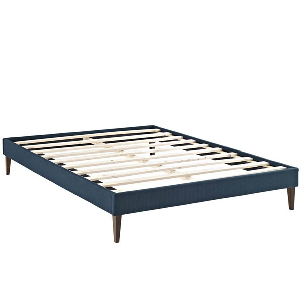 Modway Furniture Tessie Azure Fabric Squared Tapered Legs King Bed Frame MOD-5901-AZU