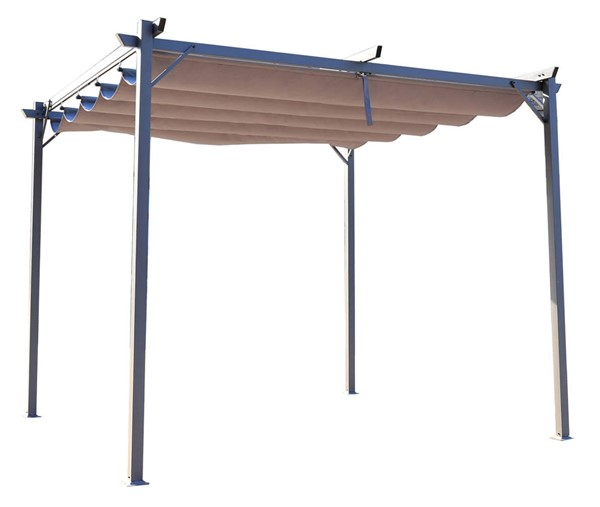 Moda Furnishings Brown 114 Inch Outdoor Patio Tent Folding Gazebo Canopy MODA-DW-GAHC-005A