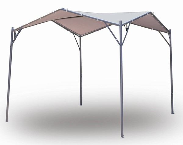 Moda Furnishings Beige 118 Inch Party Outdoor Patio Tent Folding Gazebo Canopy MODA-DW-GAHC-007A
