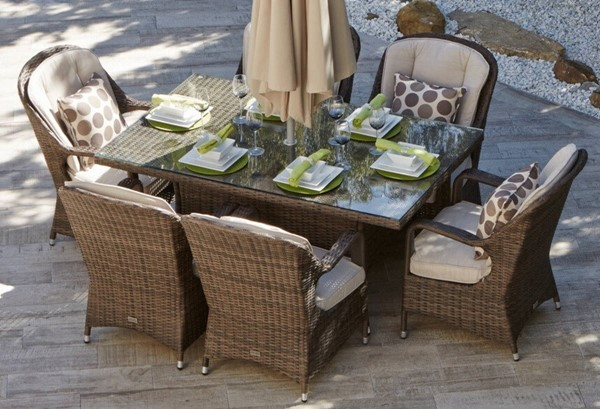 Moda Furnishings Summon 7pc Rectangle Dining Sets with Cushions MODA-PAD-1712-OUTDOOR-DR-S-VAR