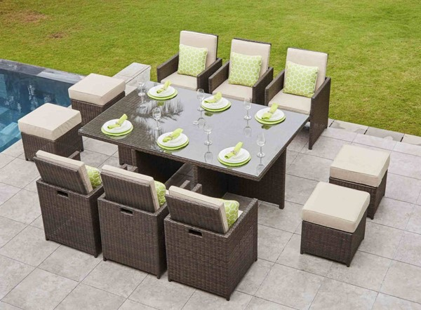Moda Furnishings Skye 11pc Dining Sets with Cushions MODA-PAD-3234-OUTDOOR-DR-S-VAR