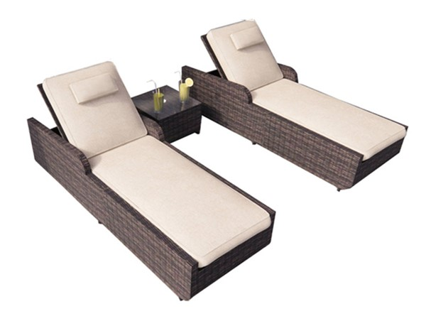 Moda Furnishings Outdoor Brown Rattan Lounges with Coffee Tables MODA-PAL-1127B-OD-LG-VAR