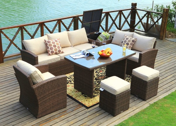 Moda Furnishings Morden 7pc Sofa Sets with Cushions MODA-PAS-1403B-OUTDOOR-LR-S-VAR
