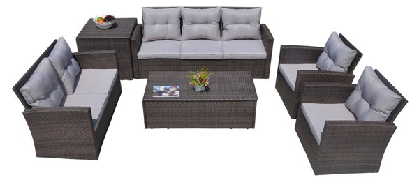 Moda Furnishings Morden 6pc Sofa Sets with Cushions MODA-PAS-1503-OUTDOOR-LR-S-VAR
