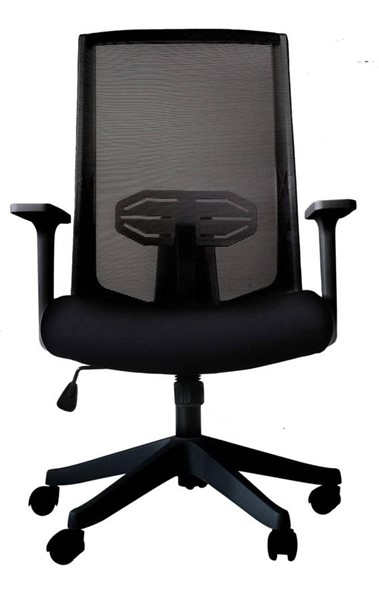Moda Furnishings Black Ergonomic Lumbar Support Mesh Task Office Chair with Armrests MODA-QW-H1904-B